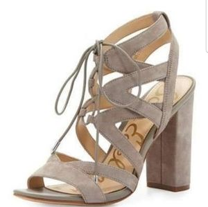 NWOT-Sam Edelman Lace Up Heels
